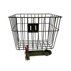 kosz z klikiem na kierownicę firmy Metszyk, bicycle basket mesh